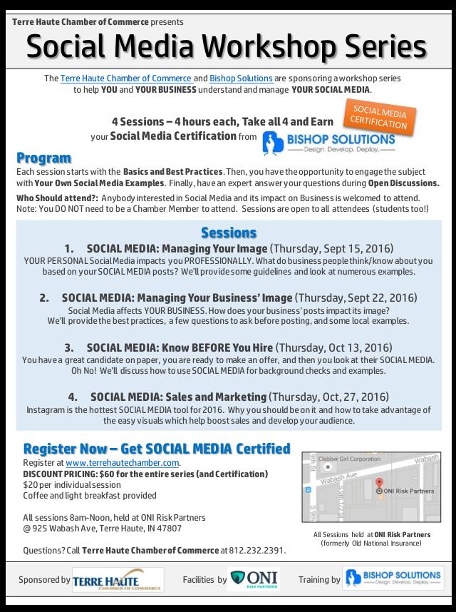 Chamber News Social Media Workshop Series Thcoc